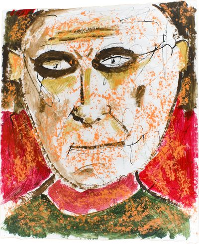 Acrylic and crayon portrait on paper by Ruben Trejo. Courtesy of Tinman Gallery (Courtesy of Tinman Gallery / The Spokesman-Review)