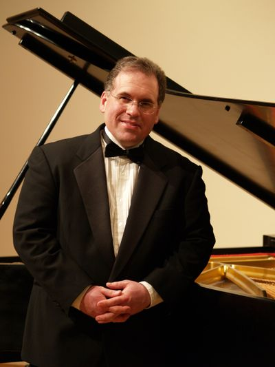 Jazz pianist Brent Edstrom will perform a little banjo on Saturday, as well. Courtesy of Spokane Jazz Orchestra (Courtesy of Spokane Jazz Orchestra)
