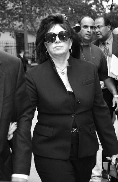 Victoria Gotti, mother of John Gotti Jr., offered her $715,000 home for her son's bail. She came to court for all his trials.   (Associated Press / The Spokesman-Review)