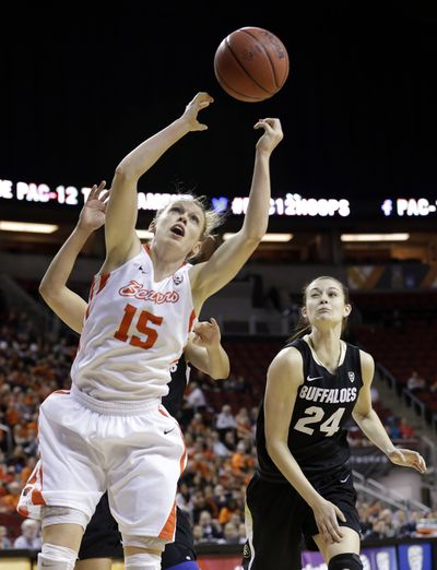 Former Clarkston High standout Jamie Weisner leads Oregon State in scoring at 13.4 ppg. (Associated Press)