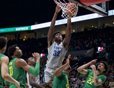 At long last, James Wiseman is about to be on a team again. More than a year removed from the end of his three-game college career that was doomed almost before it started because of NCAA rulings regarding his eligibility, the 7-foot-1 left-hander will be one of the first players selected in Wednesday's, Nov. 18, 2020, NBA draft.  (Craig Mitchelldyer)