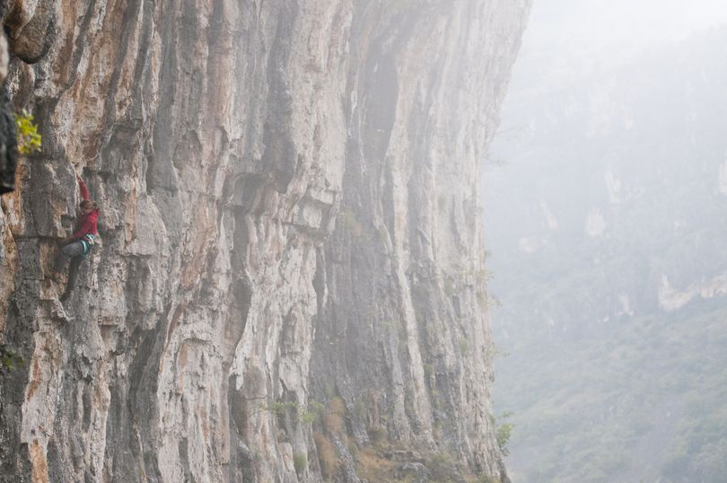Rock and ice climber Dawn Glanc climibing in Montenegro. (Courtesy photo)