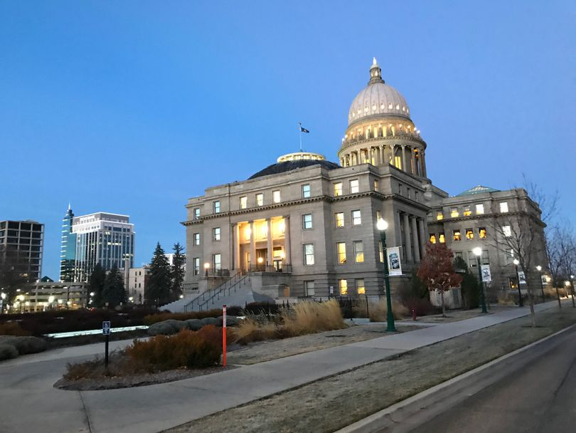 Idaho state Capitol, on the morning of Monday, Jan. 15, 2018 (Betsy Z. Russell)