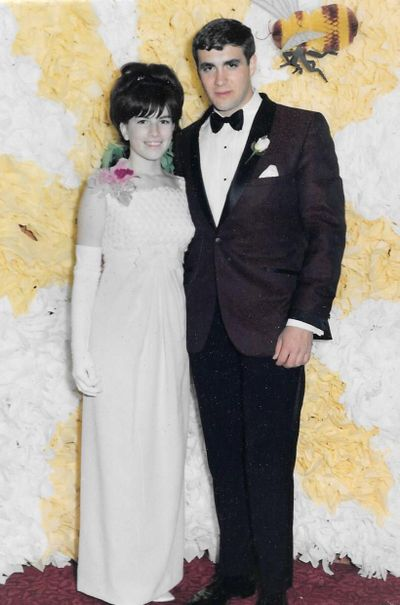 Barbara Hill and Lewis Allwardt at her 1967 Holy Names Academy senior prom. (Barbara Hill)