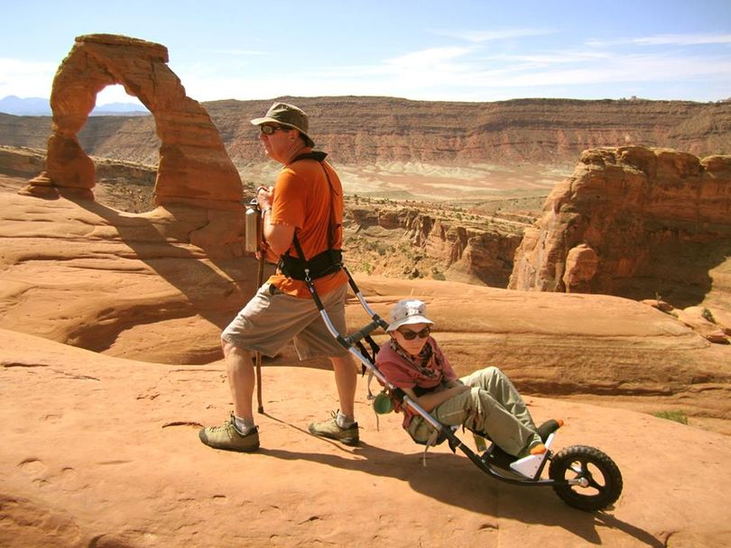 James Geier celebrated Fathers Day by hiking with his disabled son, Jonah, in Arches National Park. (courtesy)