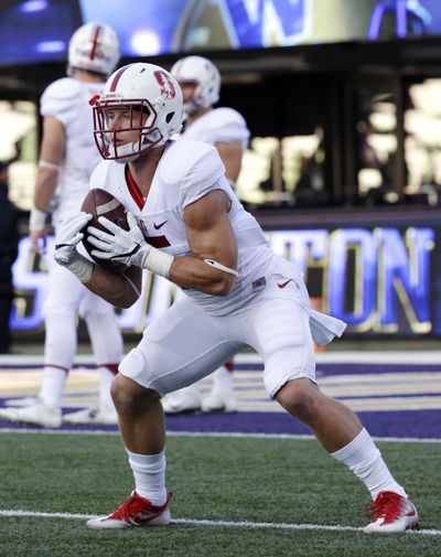 Stanford running back Christian McCaffrey will provide a major challenge for Washington State. (Ted S. Warren / Associated Press)