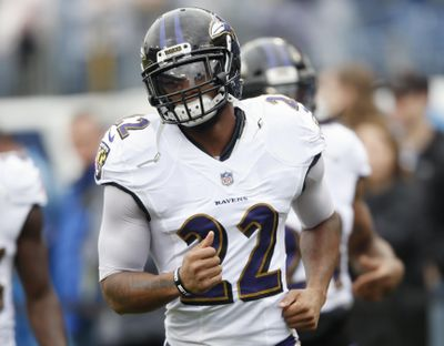 In this Oct. 14, 2018 photo, Baltimore Ravens cornerback Jimmy Smith warms up before an NFL football game against the Tennessee Titans, in Nashville, Tenn. During a busy offseason, the Baltimore Ravens put a high priority on fortifying a secondary that last season played a huge role on the top-ranked defense in the NFL. That included retaining Jimmy Smith. (Wade Payne / Associated Press)