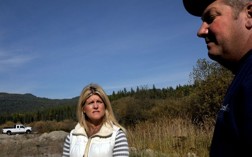 In this Oct. 19, 2011, photo, Chantell and Mike Sackett talk about their battle with the U.S. Environmental Protection Agency over their right to build a home on a lot near Priest Lake. The EPA said that the lot included wetlands. The U.S. Supreme Court has ruled in favor of the couple. (Kathy Plonka)