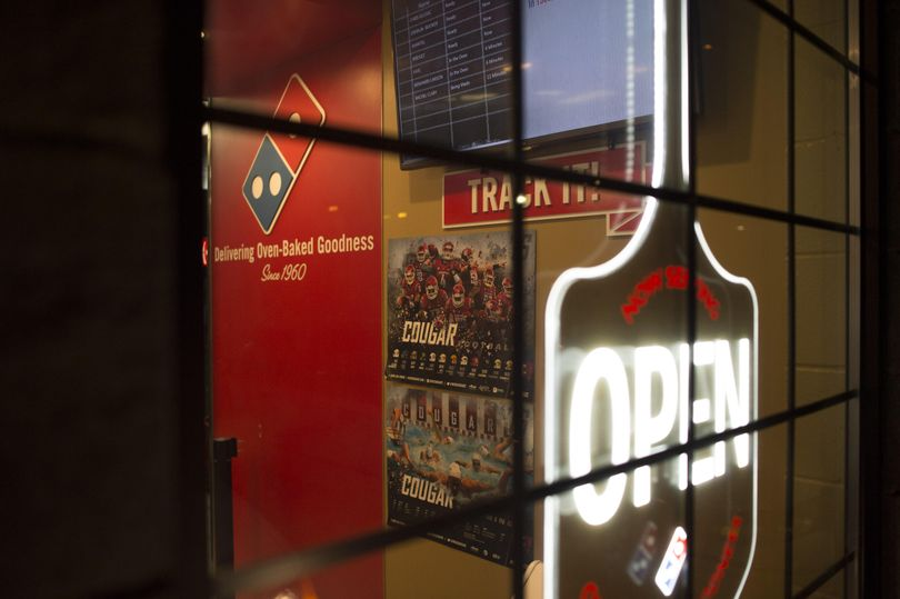 The Dominos Pizza where on Aug. 24 WSU safety Shalom Luani was involved in an altercation while waiting for a pizza is seen on Wednesday, Sep 14, 2016, in Pullman. (Tyler Tjomsland / The Spokesman-Review)