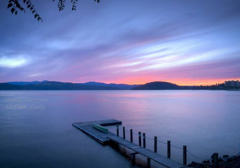 Izzit just me -- or are Linda Lantzy's sunsets on Lake Coeur d'Alene usually better than everyone else's?