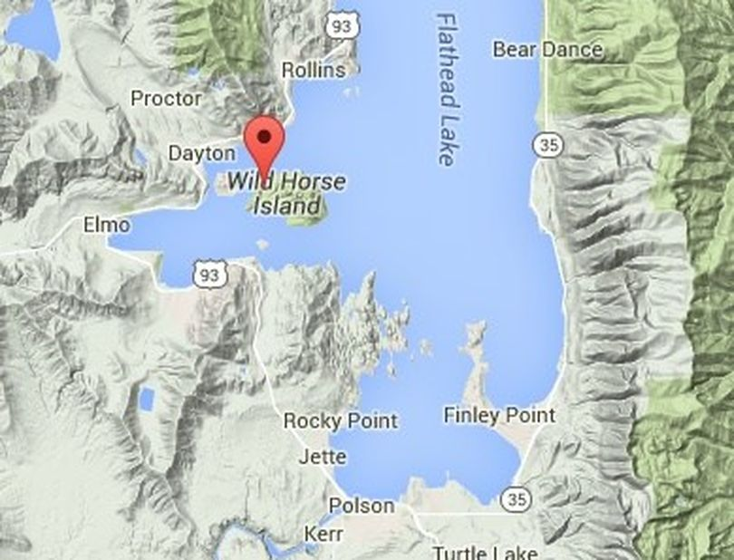 Wild Horse Island at Flathead Lake, Montana.