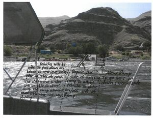 Rough-draft photo illustration shows revised plan for adding a boat ramp on the Snake River at Heller Bar. (Washington Department of Fish and Wildlife)