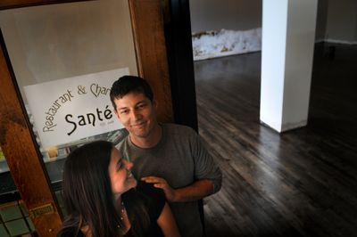 Jeremy and Kate Hansen are hoping their new Santé Restaurant and Charcuterie, opening in October in the Liberty Building, will continue to revitalize downtown Spokane.  (Rajah Bose / The Spokesman-Review)