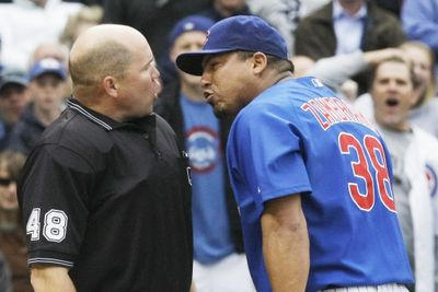 Cubs pitcher Carlos Zambrano vented on Wednesday.  (Associated Press / The Spokesman-Review)