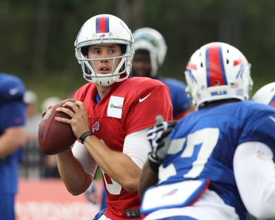 Former Washington State quarterback Jeff Tuel is the likely starter for the Buffalo Bills in the season opener. (Associated Press)