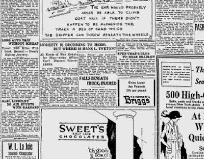 """The Croix de Guerre (""""with palms"""") and the Médaille Militaire medals were sent from France to Spokane's Army recruiting office for delivery to Private Hans L. Tveton. The problem was, nobody could find him. (The Chronicle archive)"""