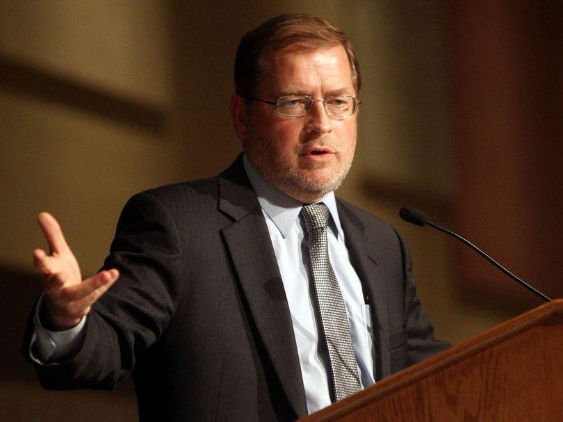 Grover Norquist speaks in Boise on Tuesday (Idaho Statesman / Joe Jaszewski)