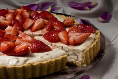 Let the kids help with this easy to make Almost No-Bake Strawberry Cheesecake Tart. (Associated Press / The Spokesman-Review)