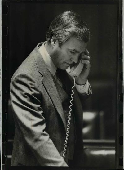 Former Rep. Dick Barrett, shown here in 1981, has died at age 91.  (Cowles Publishing)