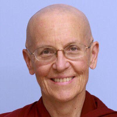 Ven. ThubtenSemkye has been a nun at Sravasti Abbey since 2007.  (Spokane Faith and Values)