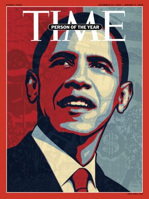 """This image supplied by Time Magazine, shows the cover of the magazine's December 29, issue naming President-elect Barack Obama as their """"Person of the Year"""" for 2008. The news magazine's cover is by ex-street artist, Shephard Fairey, whose early poster of Senator Obama became a populist image of the campaign.  (Time/AP / The Spokesman-Review)"""