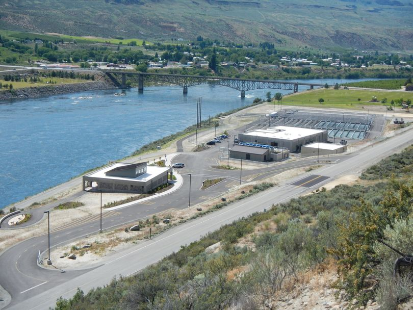 The Chief Joseph Hatchery on the Columbia River near Chief Joseph Dam will be dedicated by the Colville Tribe on June 20, 2013.  (Courtesy)