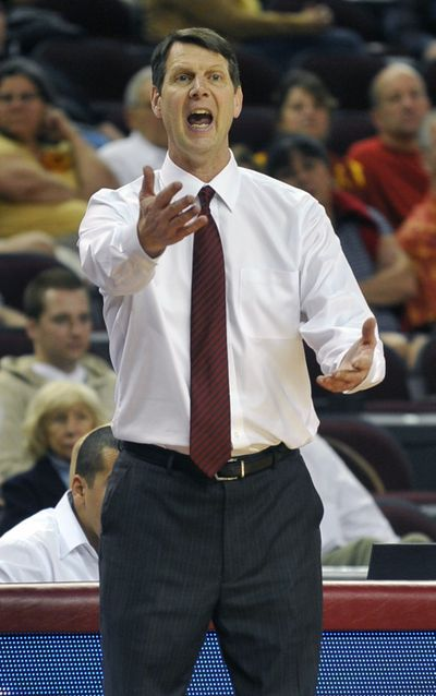 WSU head coach Ken Bone thinks three or four Pac-12 teams will make NCAA tournament. (Associated Press)