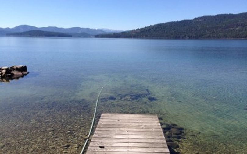 This photograph shows Priest Lake from one of the four unleased state-owned cabin sites that will be auctioned off Friday at the Coeur d'Alene Resort. (State of Idaho)