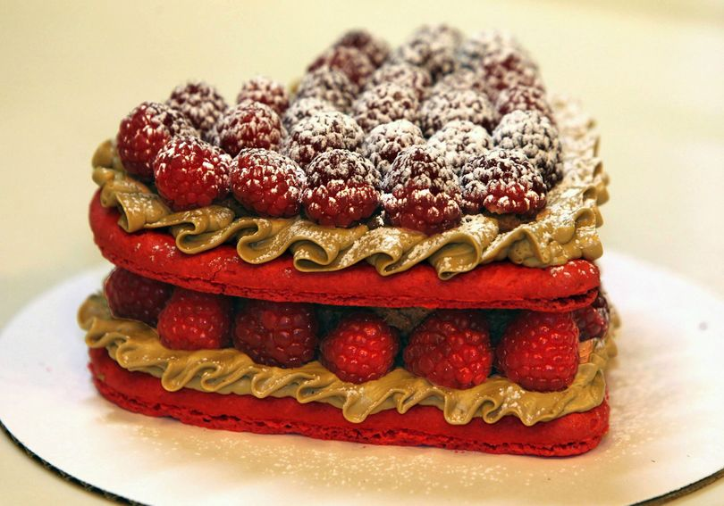 A chocolate and raspberry heart cake from chef Wendy Kromer-Schell.