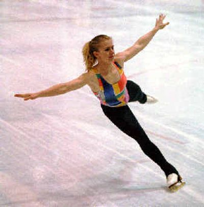 Tonya Harding, shown in 1994, was first American woman to land a triple axel.  (File/Associated Press / The Spokesman-Review)