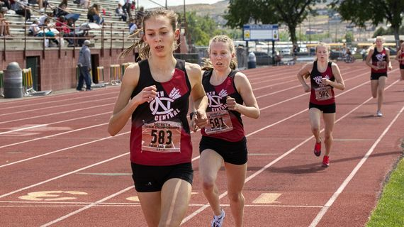 North Central's Allie Janke competes in the girls 1,600 meters during the District 8 3A track and field championship at Fran Rish Stadium last year. (Noelle Haro-Gomez / Tri-City Herald)