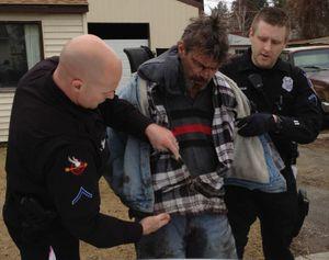 Spokane police arrest Albert V. Bergen, 46, on charges of burglary, resisting arrest and assaulting police. (Spokane Police Department)