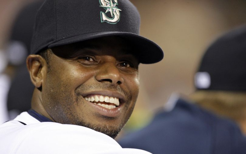 Ken Griffey Jr. received 437 of 440 votes for the Hall of Fame. (Elaine Thompson / Associated Press)