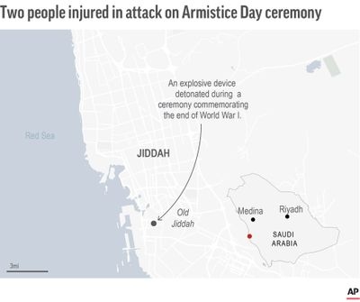 Map locates attack in Jiddah, Saudi Arabia  (Associated Press)