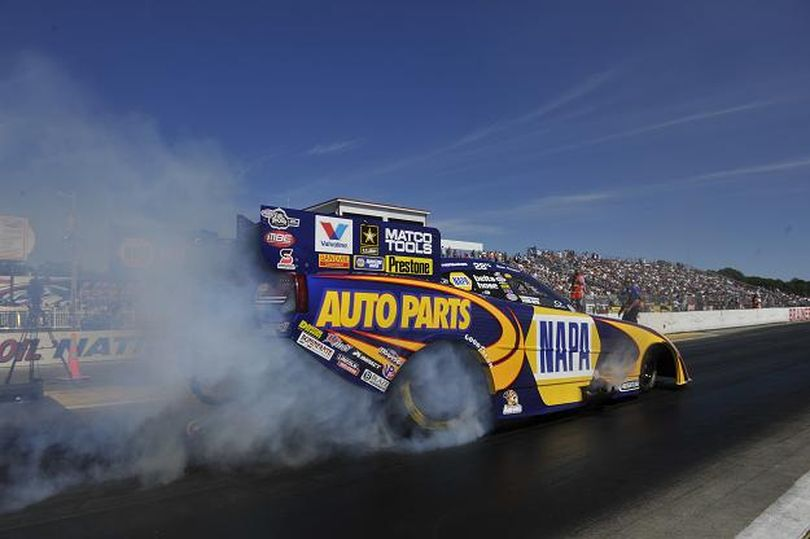 With his win at Brainerd International Raceway, Ron Capps continues to lead the NHRA Full Throttle Drag Racing Series Top Fuel championship standings. (Photo courtesy of NHRA)