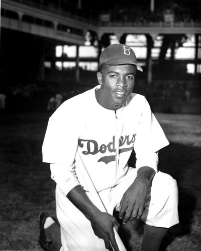 Some of the most interesting moments in a new PBS documentary about Jackie Robinson detail life off the baseball field. (JOHN ROONEY / Associated Press)
