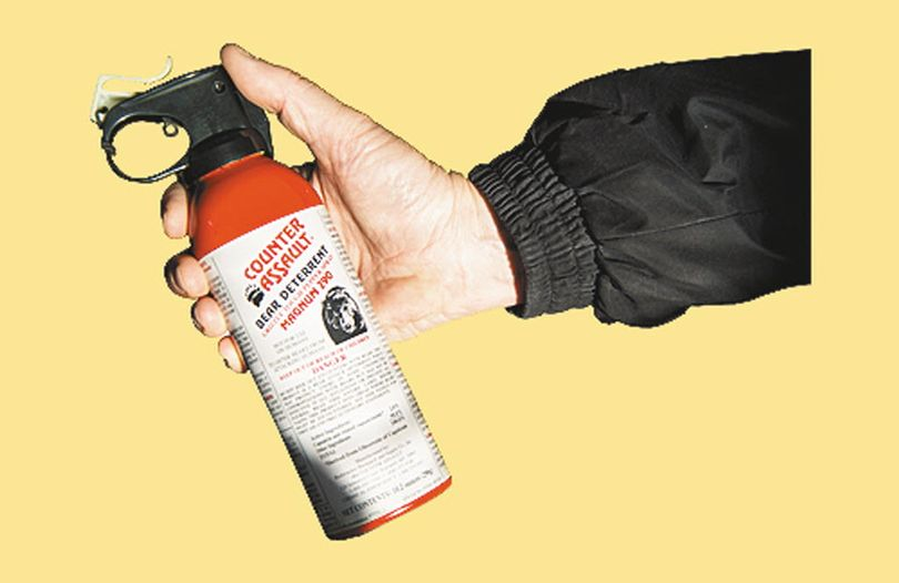 Bear spray canister: recommended equipment for recreating in bear country. (Colin Mulvany)