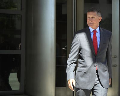 Former Trump national security adviser Michael Flynn leaves federal courthouse in Washington, Tuesday, July 10, 2018, following a status hearing. (Manuel Balce Ceneta / Associated Press)
