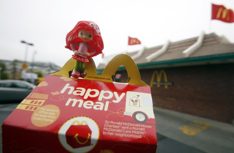 San Francisco legislation  aims to force fast-food chains such as McDonald's to make  kids' meals healthier.  (Associated Press)
