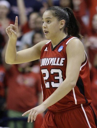 Louisville guard Shoni Schimmel heads upcourt late in the second half of a second-round NCAA tournament college basketball game against Xavier, Tuesday, March 22, 2011, in Cincinnati. Schimmel led Louisville to an 85-75 win with 33 points. (Al Behrman / Associated Press)