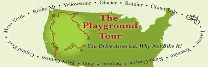 logo for The Playground Tour, a 4,500-mile bicycle troup to 14 national parks. (Courtesy photo)