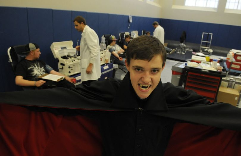Dracula (Michael Ashton Toth) was found lurking around the Dracula Blood Drive at Central Valley High School onMonday. More than80 students, faculty and community members participated and received a $3-off coupon to CV's