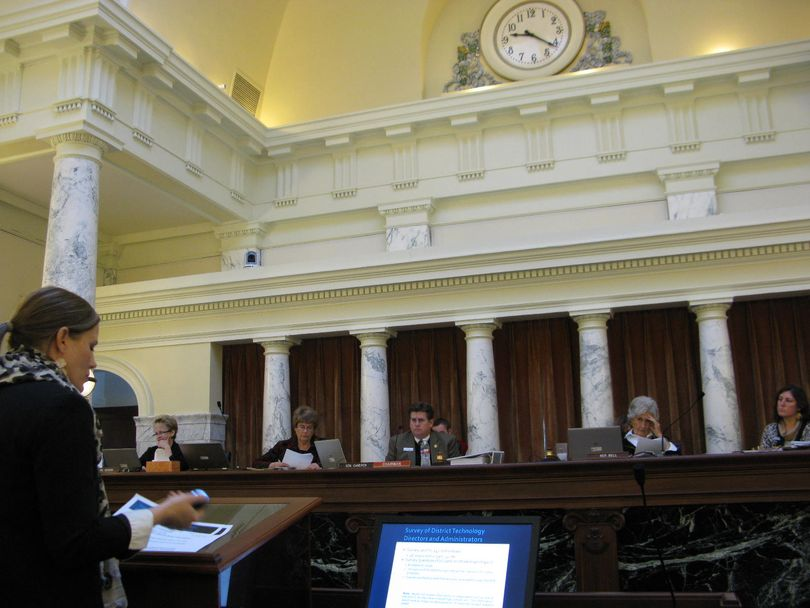 Joint Finance-Appropriations Committee members hear service audit report on the Idaho Education Network (Betsy Russell)
