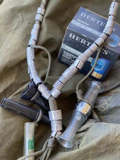 A collection of bands from successful hunts makes for some unique jewelry.  (George Twigg/courtesy)