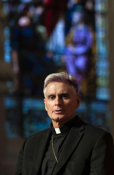 Bishop Thomas Daly of the Spokane Catholic Diocese is photographed Tuesday, Oct. 30, 2018, at the Cathedral of Our Lady of Lourdes. (Kathy Plonka / The Spokesman-Review)