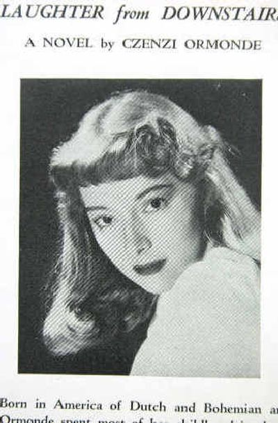 This photo of Czenzi Ormonde is on the back cover of