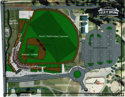 This is a concept drawing of the proposed $2.7 million ballpark in east Coeur d'Alene.  (Courtesy of Doug Eastwood)
