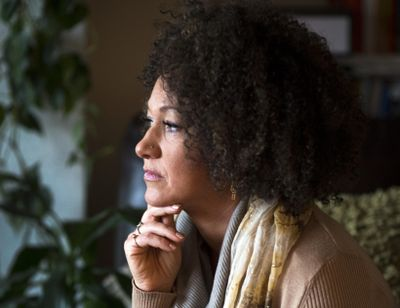 In this March 2, 2015, file photo, Rachel Dolezal, president of the Spokane chapter of the NAACP, poses for a photo in her Spokane home. (Colin Mulvany / The Spokesman-Review)