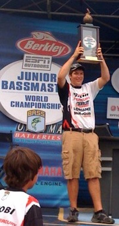 Jake Cook, 18, of Kennewick won the 2009 Junior Bassmasters Championship in Florida on Saturday. (Courtesy of Joel Nania / The Spokesman-Review)