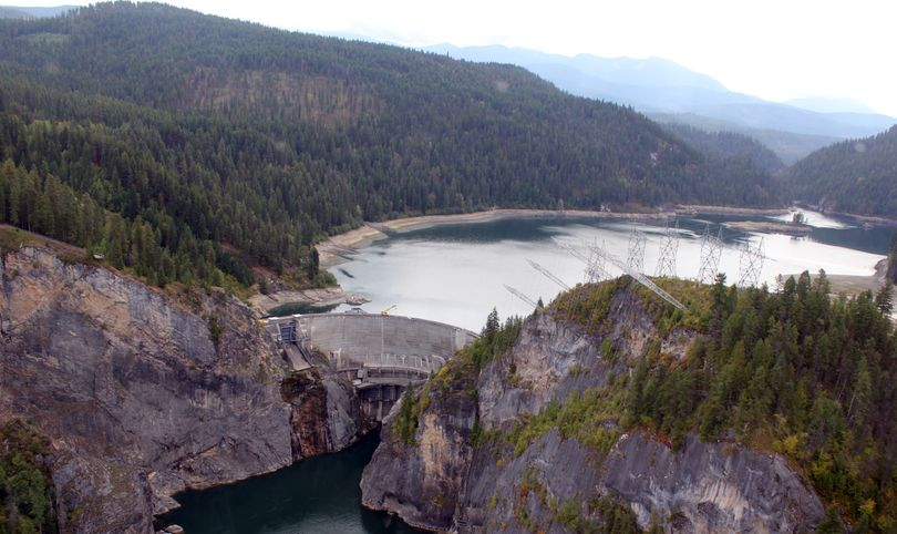 Boundary Dam, completed on the Pend Oreille River downstream from Metaline Falls, Wash.,  in 1967, is the largest hydroelectric dam owned by Seattle City Light and produces 25 percent of the city's electric power. (Seattle City Light)